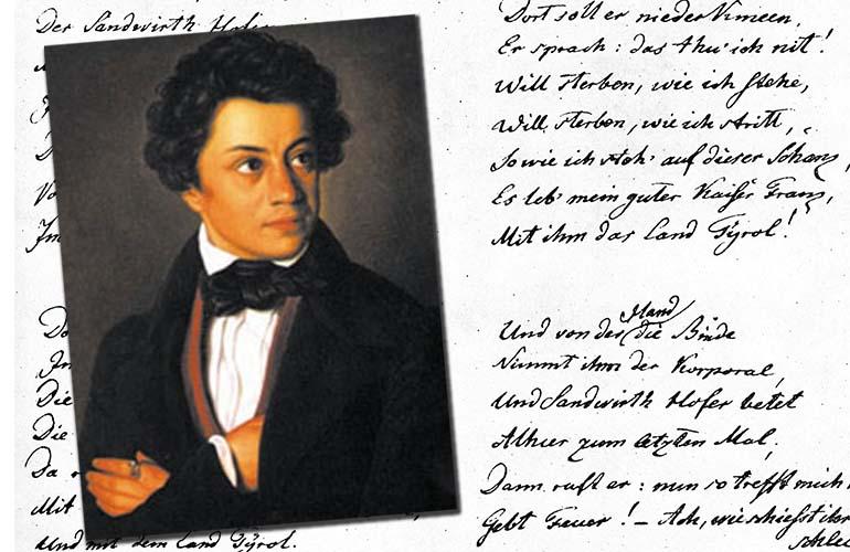 Dokumentation: Erinnerung an den Dichter der Tiroler Landeshymne