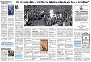 """Im Innenteil widmeten die """"Dolomiten"""" dem tragischen Geschehen von 1920 eine ausführliche Berichterstattung"""