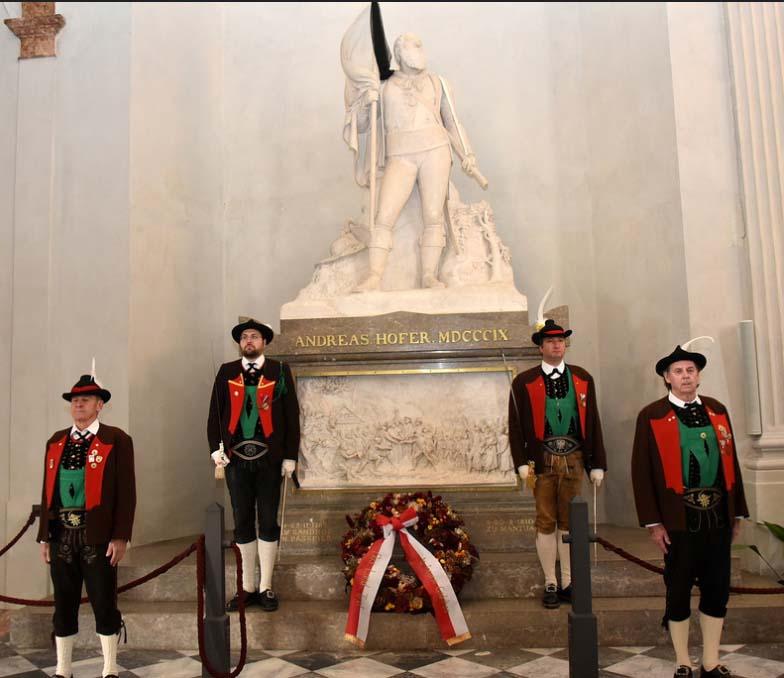 Das Andreas Hofer-Grabmal in der Hofkirche in Innsbruck.
