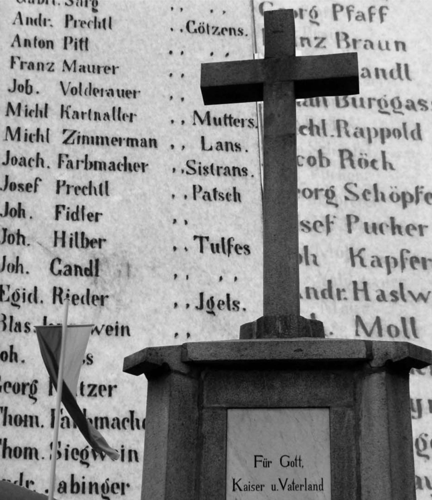 Dieses Denkmal bei Springes nennt die Namen der damals gefallenen Tiroler. (Foto Judith Lechner)