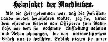 """Aus """"Der Tiroler"""" vom 26. April 1921"""
