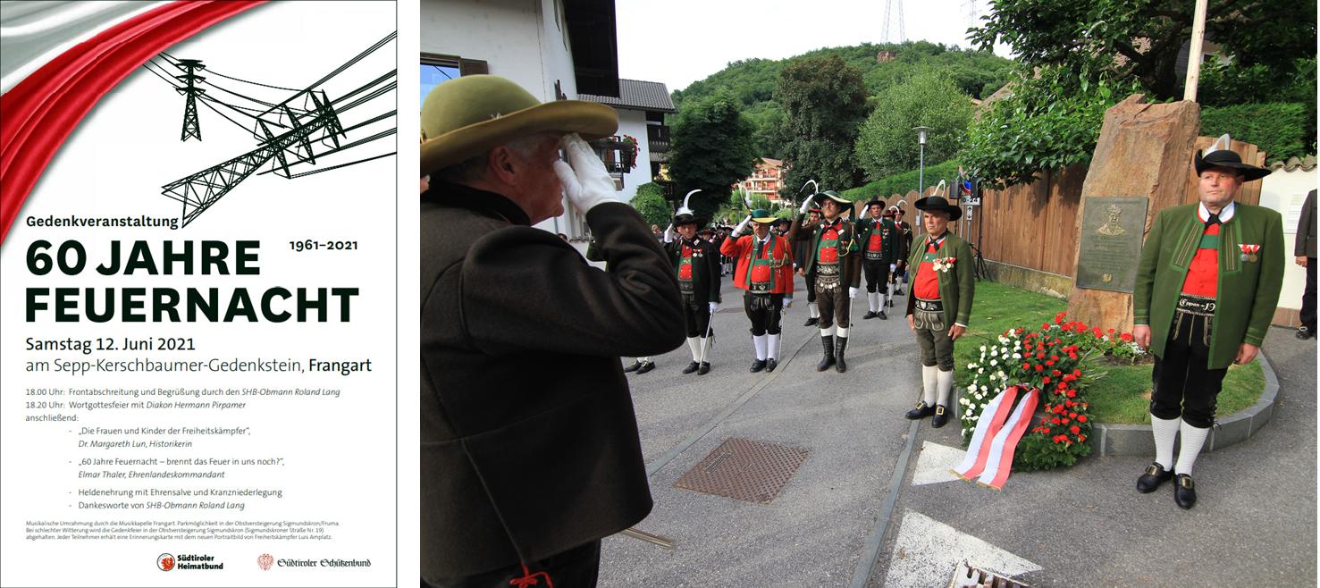 Mit Plakaten und Inseraten war die Gedenkfeier angekündigt worden. (Bilder: Südtiroler Schützenbund)