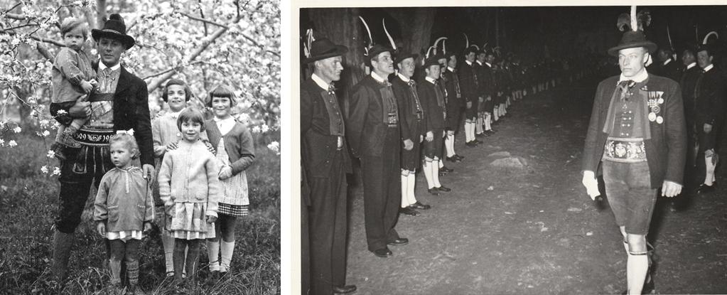 Zwei Männer des BAS: Links der Obstbauer Luis Amplatz, rechts der Schmied und Schützenmajor Georg Klotz.