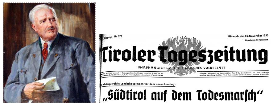 Der Nordtiroler Landeshauptmann Alois Grauß mahnte auch das Selbstbestimmungsrecht für Südtirol ein.