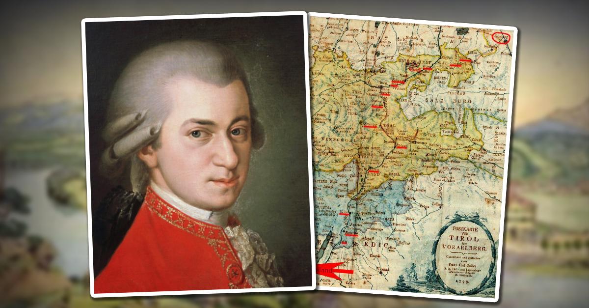 Wolfgang Mozarts drei Reisen von Salzburg durch Tirol nach Italien